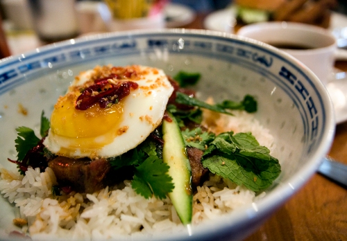 Pork Belly With Fried Egg