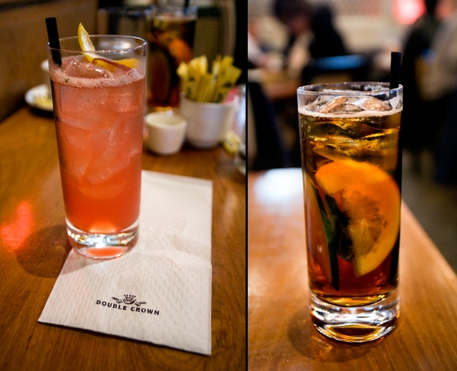 Scented Grapefruit Collins and Pimm's No. 1 Cup