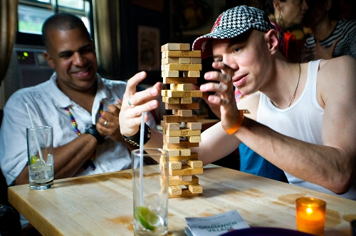 Jenga at the Spotted Pig
