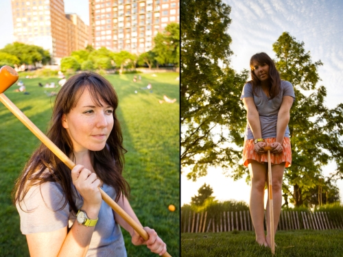 Laura and Croquet at Rockefeller Park