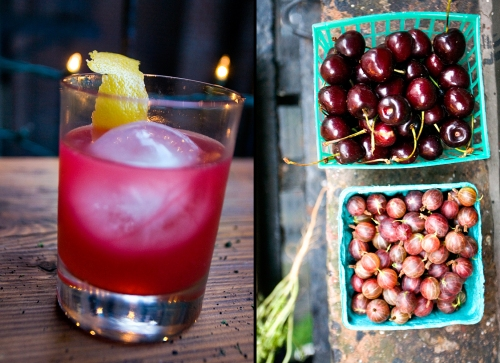 Cherries, Gooseberries, and a Cocktail