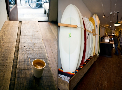 Coffee and Boards at Saturdays Surf
