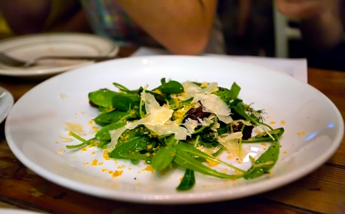 Salad with Bottarga at Roberta's