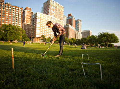 Croquet on the Lawn at Rockefeller Park