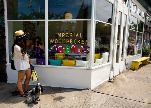 Imperial Woodpecker Sno-Balls, located at the corner of Charles Street and 7th Avenue in Manhattan's West Village, serves up New Orleans-style shaved ice..