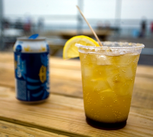 A michelada from Caracas at Rockaway Beach.