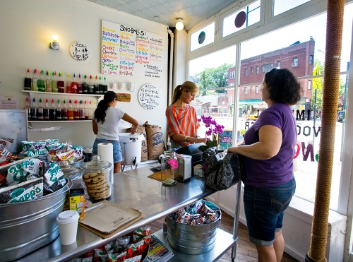 Serving up New Orleans-style shaved ice at the West Village's Imperial Woodpecker Sno-Balls.