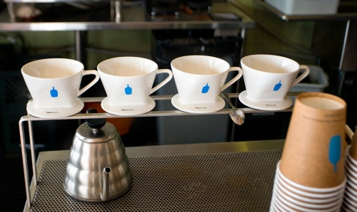 Blue Bottle's drip coffee at their Rockaway Beach, Queens, location.