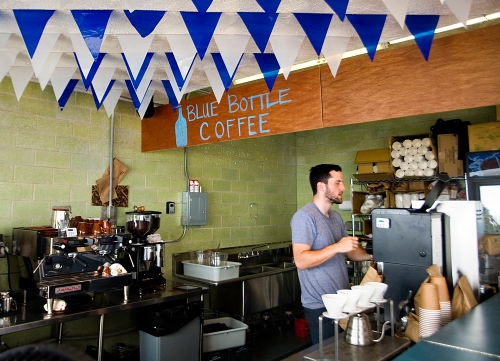 San Francisco-based Blue Bottle Coffee opened up shop at Rockaway Beach in Queens, New York, for summer 2011.